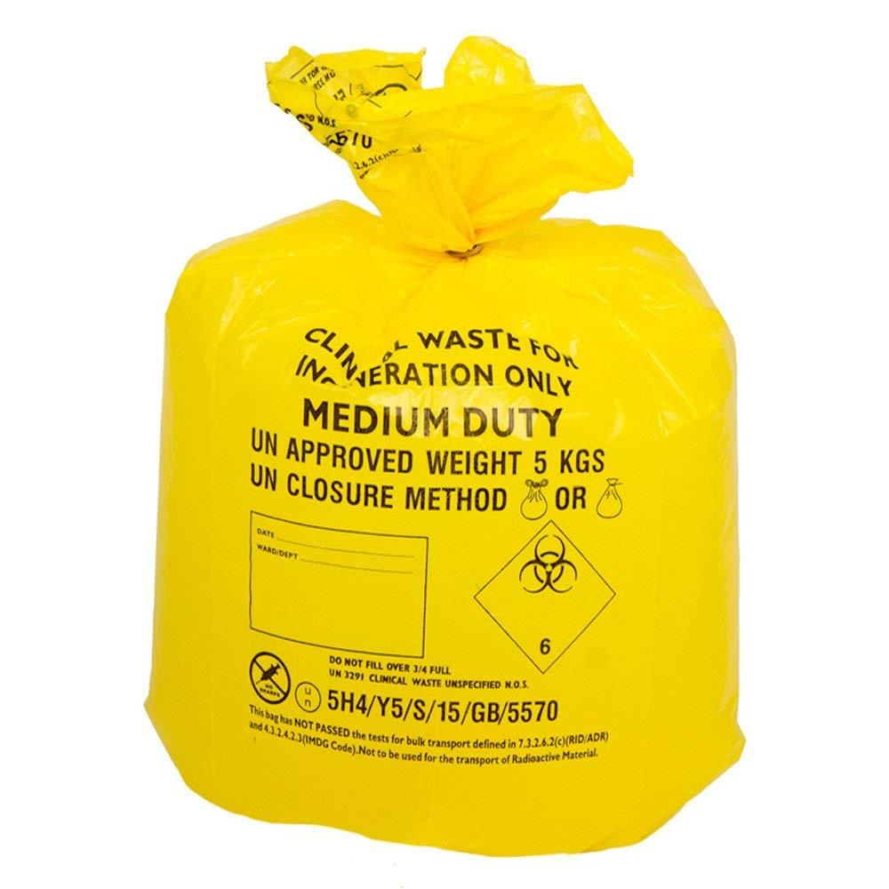 Clinical Waste Sack - Yellow