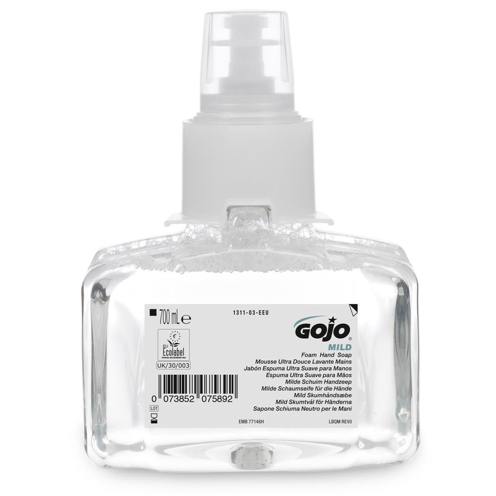 GoJo Mild Foam Hand Wash Fragrance Free 1311-03