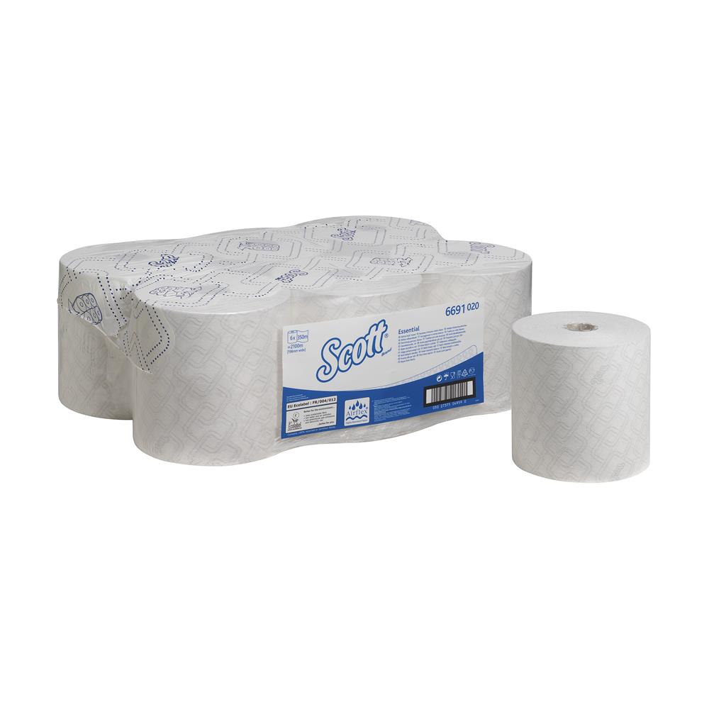 Kc6691 Scott Max White Hand Towel Rolls