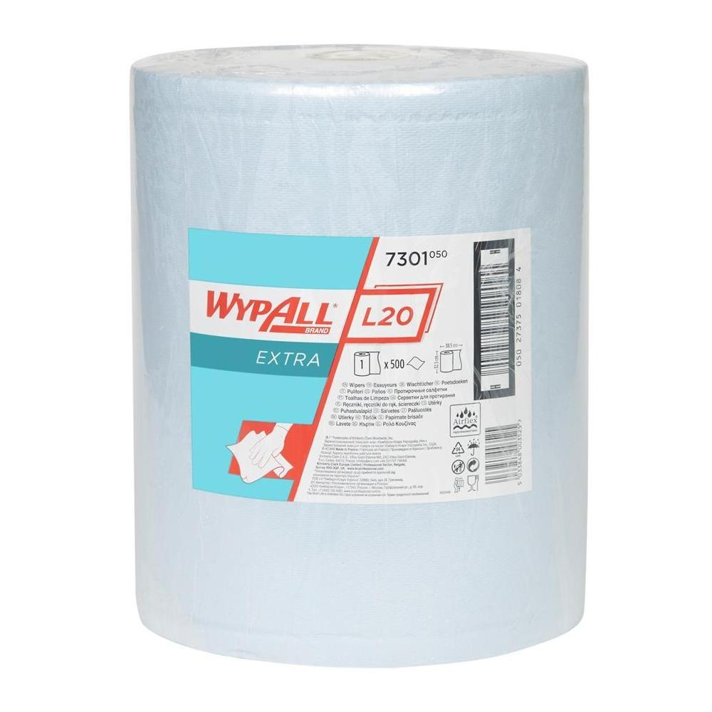 Kimberly Clark WYPALL* L20 EXTRA+ Wipers - Large Roll - Blue