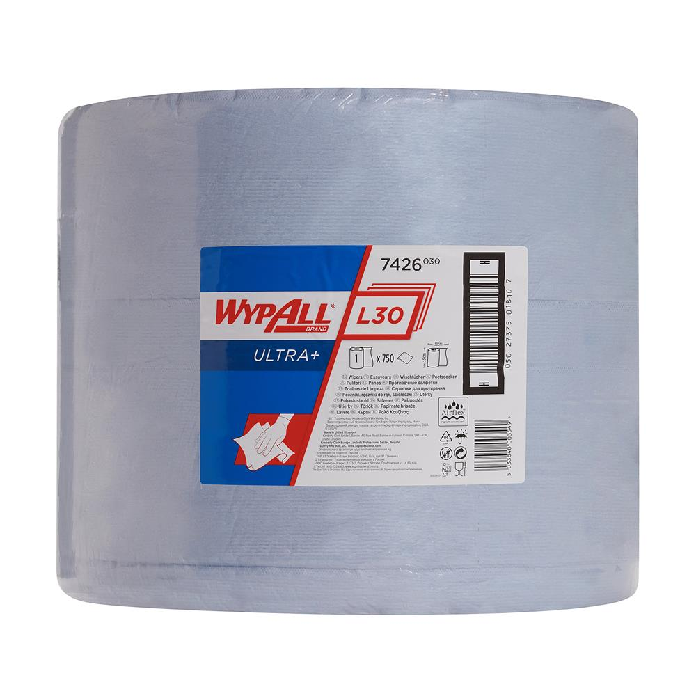 Kimberly Clark WYPALL* L40 Wipers - Large Roll - Blue
