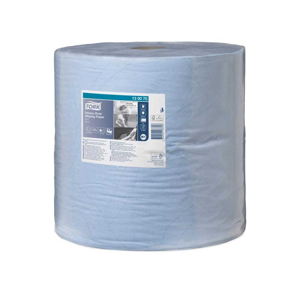 Tork Heavy-Duty Wiping Paper - Blue