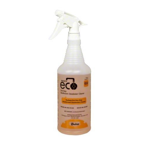 Byckeye ECO Reusable Spray Bottle - E22 One-Step Disinfectant -Deodorizer-Cleaner